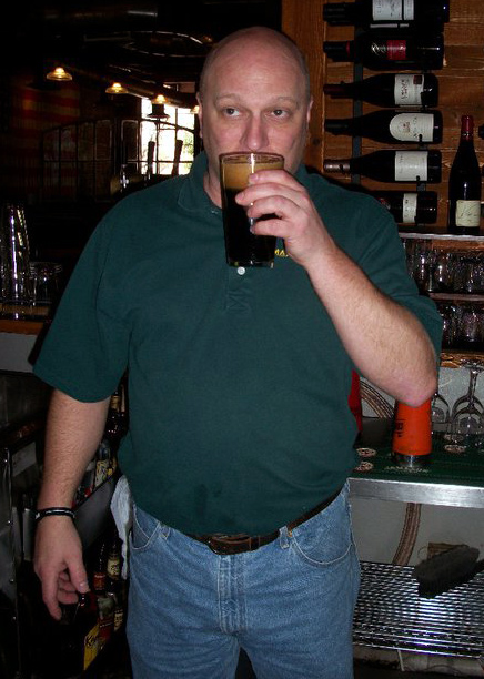 Max Lager's brewmaster, JR, tasting